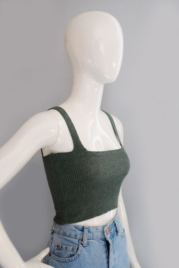 As If! Knit Top - Moss