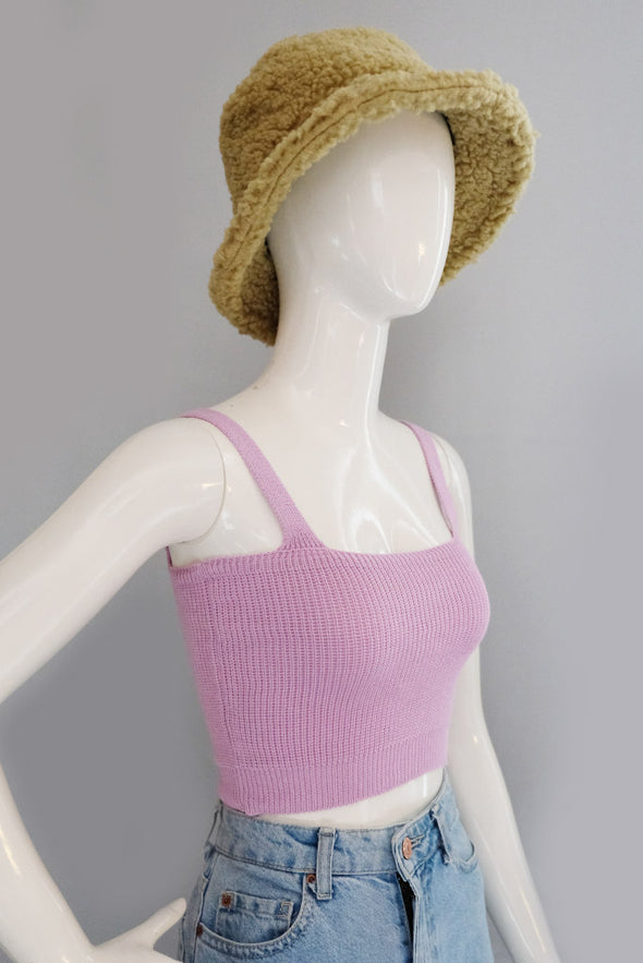 As If! Knit Top - Lavender