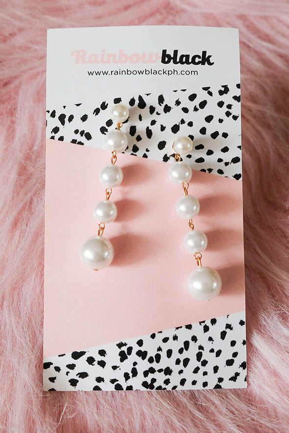 5 Layer Pearl Drop Earrings
