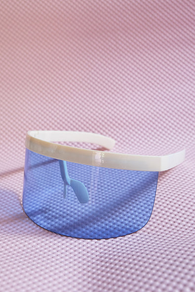 Eye Shield Visor - Cream Frame