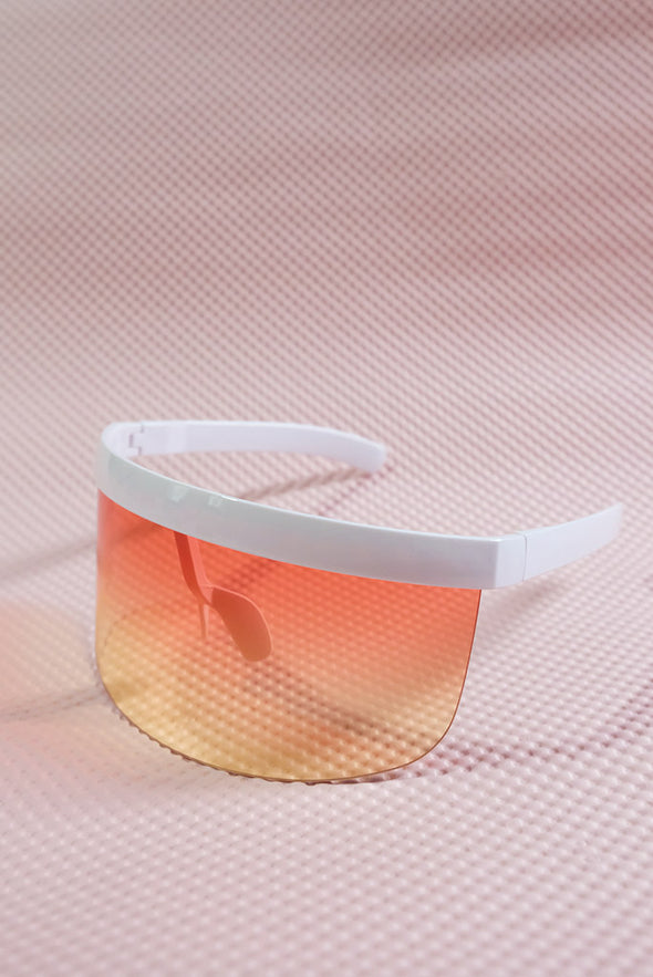 Eye Shield Visor - White Frame