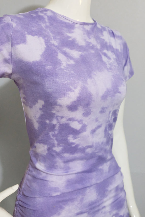Better Days Tie Dye Dress - Purple