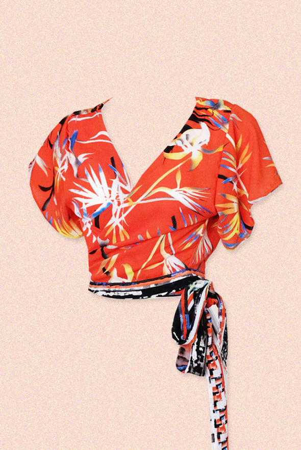 Tropicana Multi-way Top (Sunset Blooms)