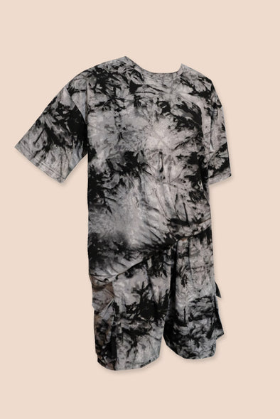 Slow Down Tie Dye Set - Smoke