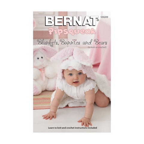 Bernat Books Pipsqueak Blankets - Bunnies Bears