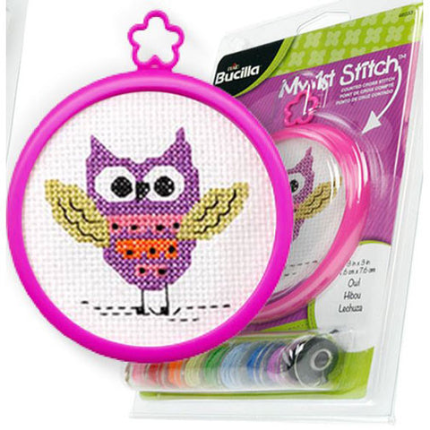"Bucilla - My First Stitch Counted Cross Stitch Kits - 3"" Frame Kit"