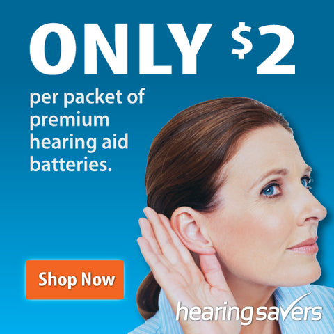 Hearing Savers batteries, take an extra 26% off! Only $2 per packet.