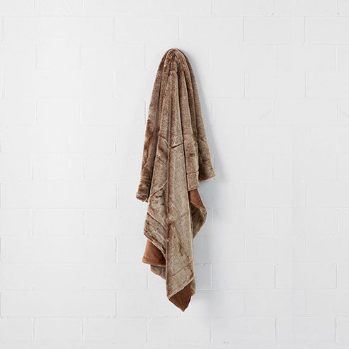 Linen House - Toffee 140cm x 180cm Throw