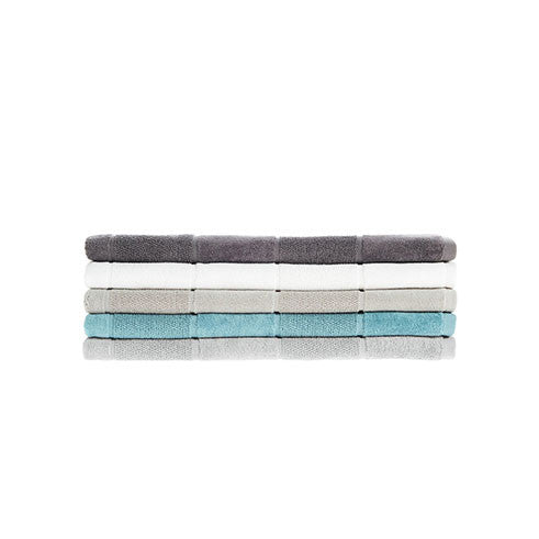 Linen House - Velour Stripe 69cm x 139cm Bath Towel