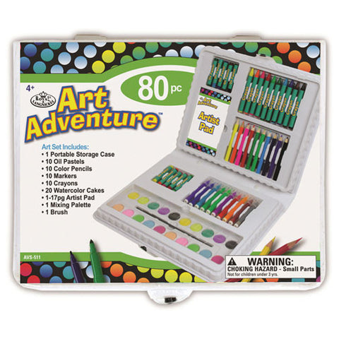 Royal Brush Art Set - Art Adventure (80pcs)