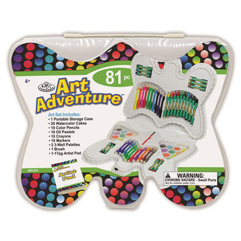 Royal Brush Art Set - Art Adventure (81pcs) - Butterfly