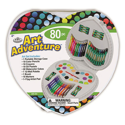 Royal Brush Art Set - Art Adventure (80pcs) - Heart