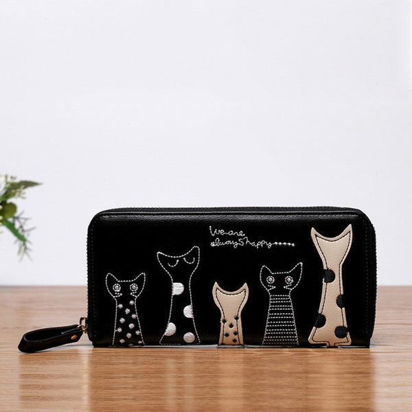5 Pretty Cats Clutch & Wallet