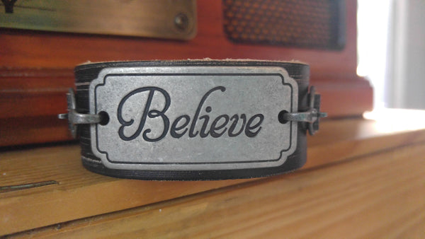 Believe leather cuff