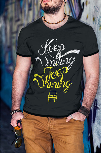 Keep Smiling Jeep Shining T-shirt
