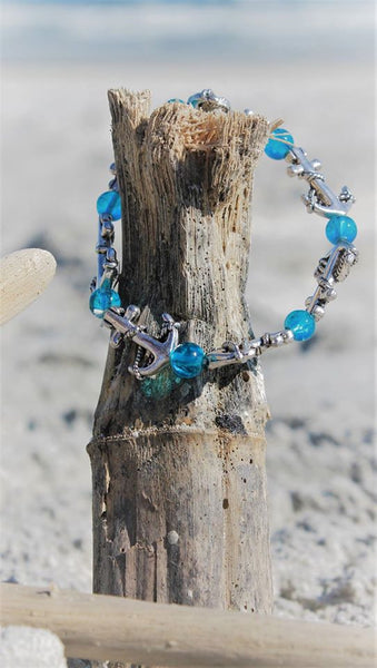 Anchor Blues Bracelet
