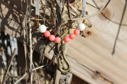 Pink & White Hook Necklace