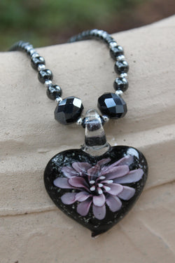 Purple-Floating-Flower-Necklace