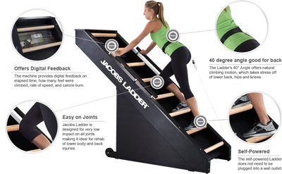 Jacob's Ladder™  Commercial Stair Climbing Cardio Machine - Total Body Exerciser