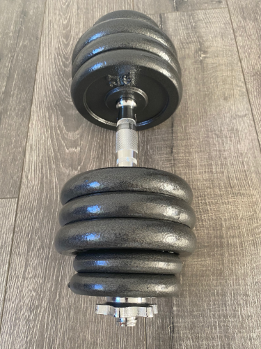 New Iron Adjustable Dumbbell Pairs With Chrome Handle & Star-Lock Collars - 100 lb Set