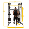 New 2021 Body-Solid Compact 2 Stack Commercial Functional Trainer