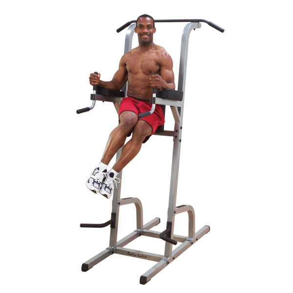 New 2019 Body-Solid Vertical Knee Raise, Dip & Pull Up Station