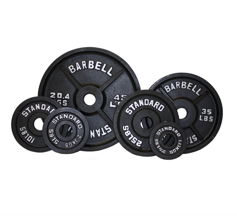 New Black Olympic Weight Plate Sets (255 lbs, 355 lbs or 455 lbs)