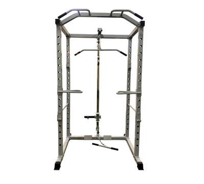 New Pro Power Cage with Rack, Pull Up Bar, J-Hooks and Dip Bars