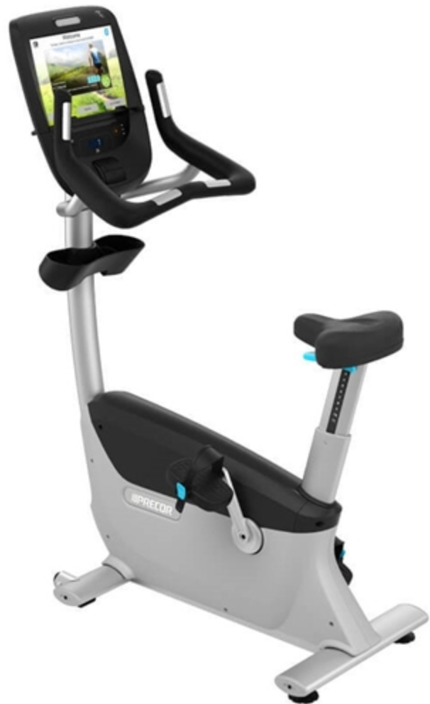 Precor UBK 885 Upright Bike w/ P82 Console
