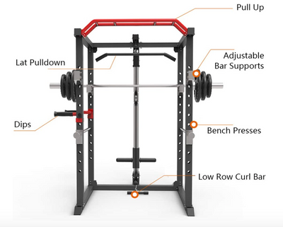 Elite Power Cage Package with Cable Pulley System - New 2021