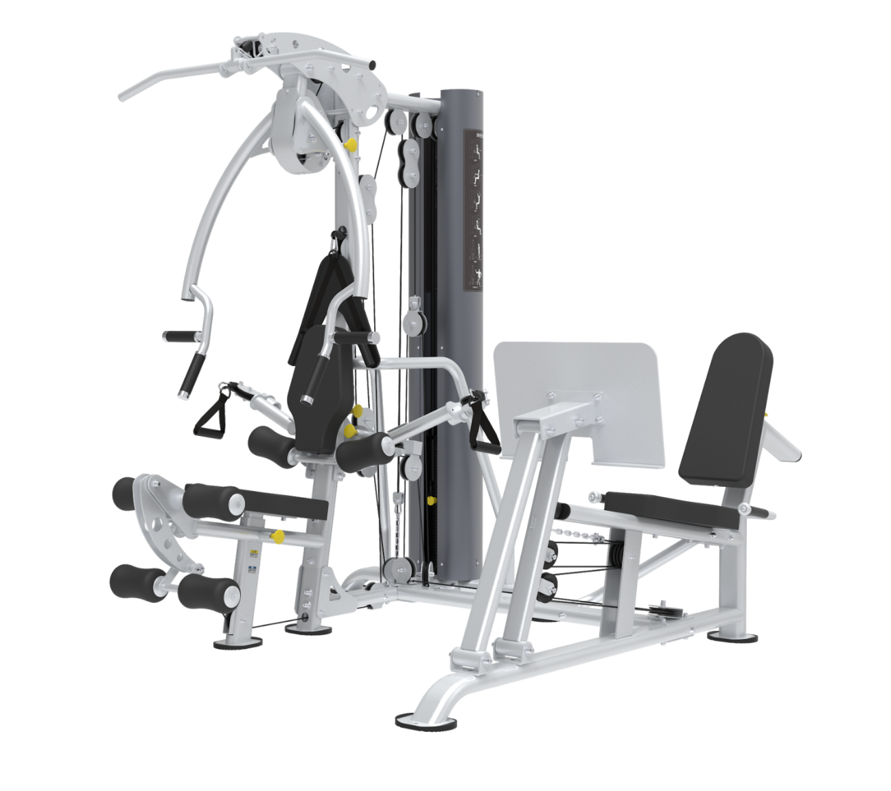 XPT Commercial Multi-Station Gym with Dual Adjustable Pulley and Leg Press