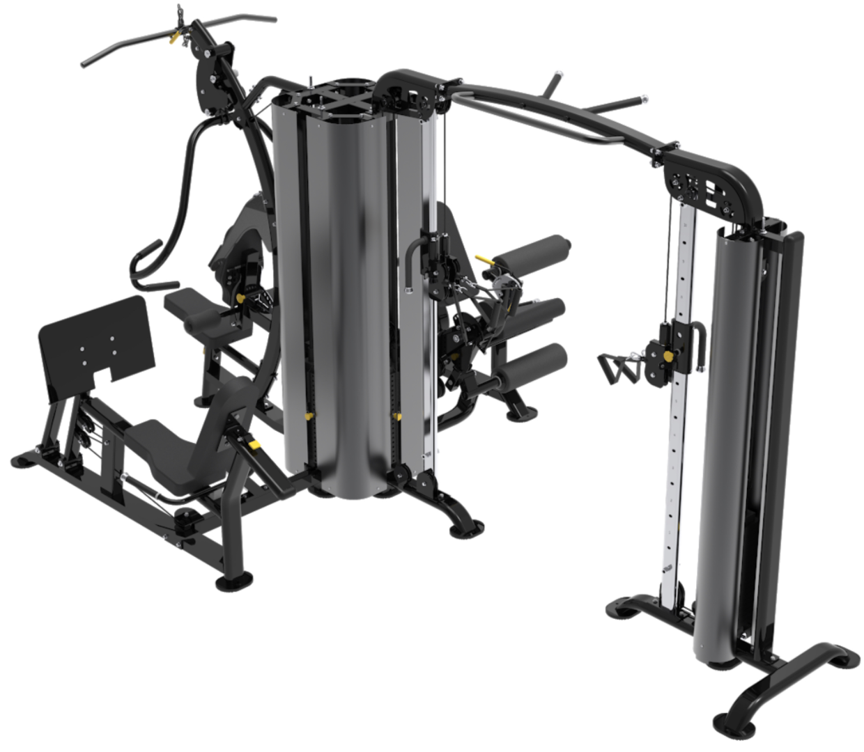 New XPT 5 Station Multi-Gym with Leg Press & Dual Cable Cross Functional Trainer