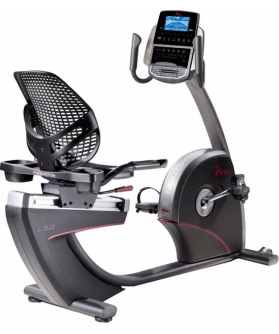 New 2018 FreeMotion C5.3 Recumbent Ultra Comfortable Exercise Bike with Google Maps & iFit Live