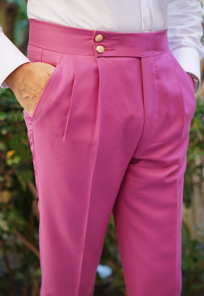 Antique Pink Wool Trouser Luxury Line