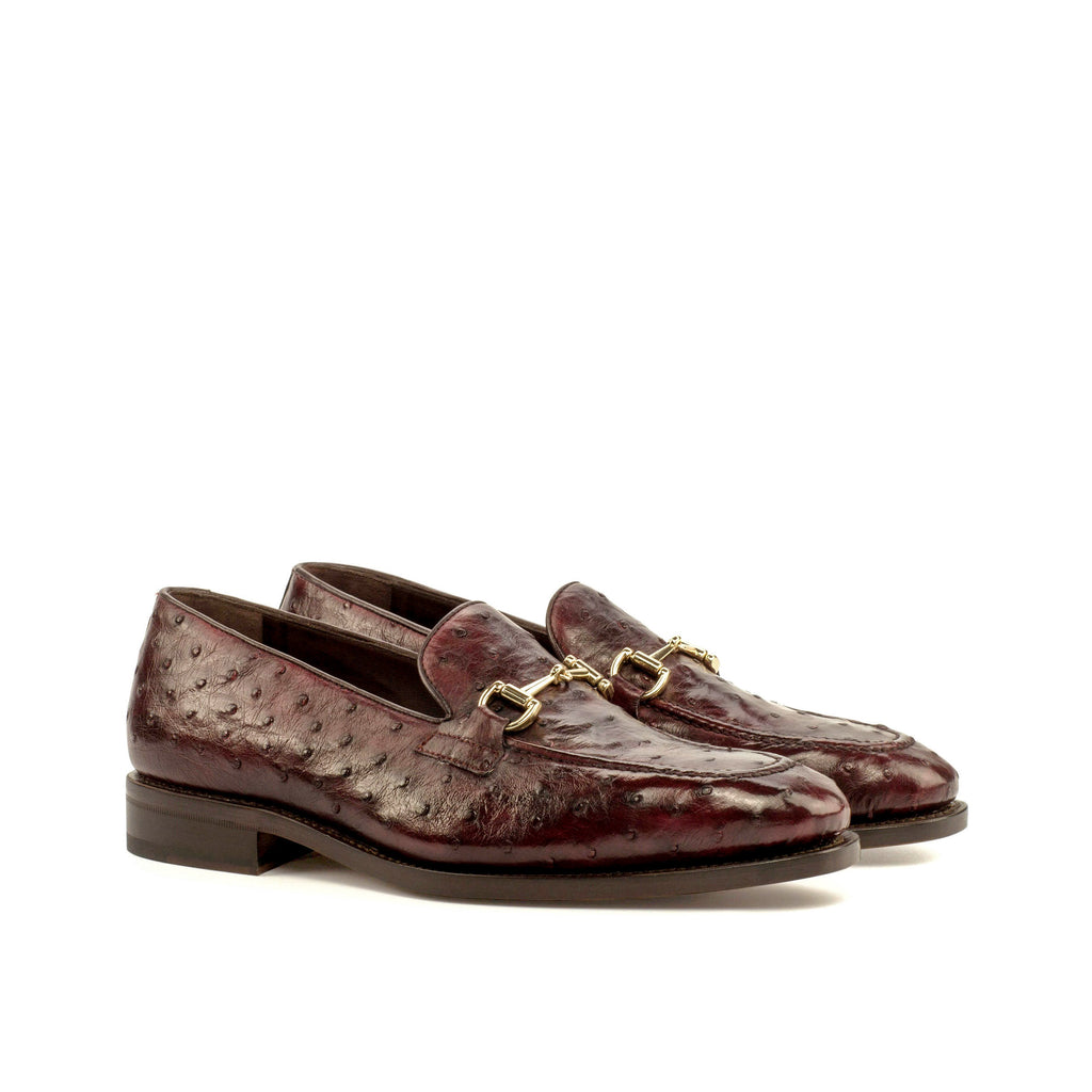 Genuine Ostrich Loafers Burgundy