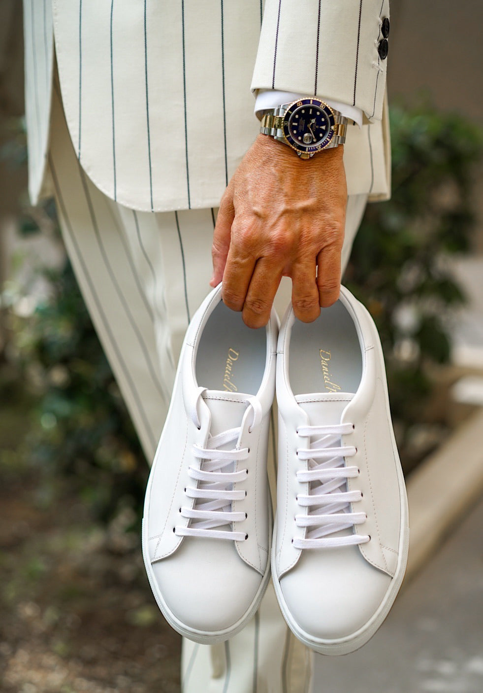 Calfskin White Sneakers