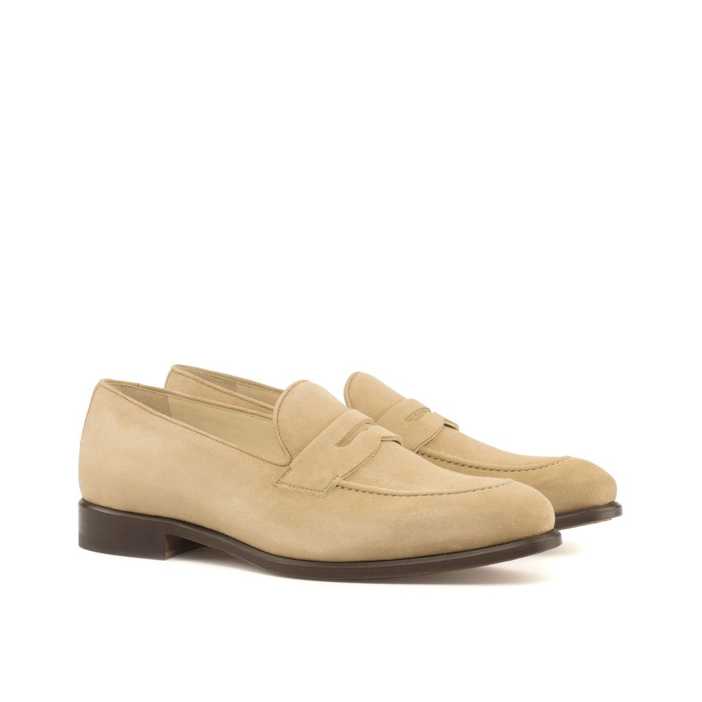 Taupe Suede Loafers Luxury Line