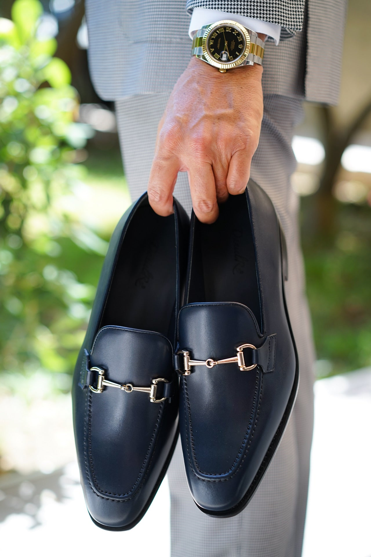 Calfskin Navy Blue Loafers