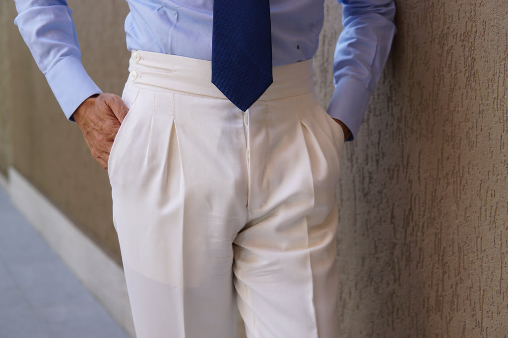 White Wool Trouser