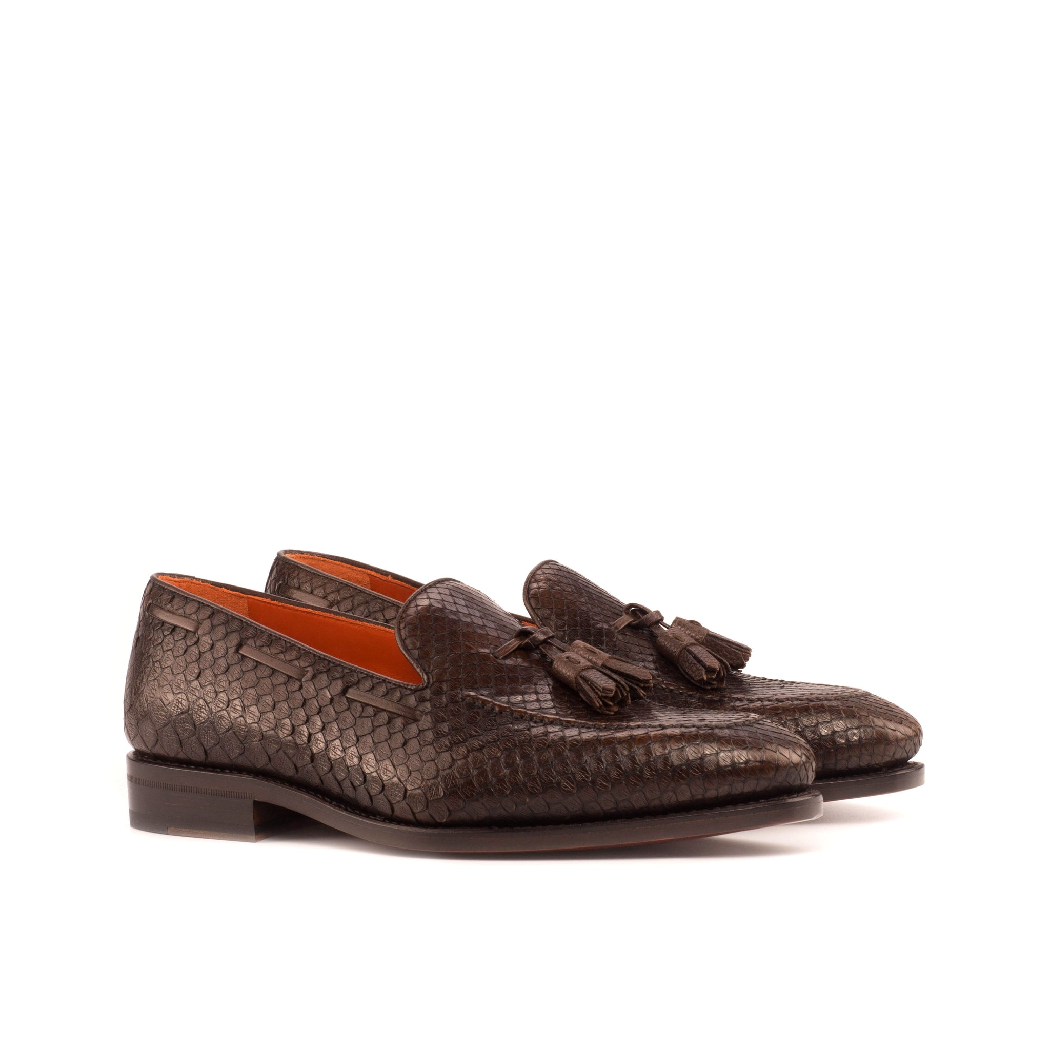 Genuine Python Loafers Dark Brown