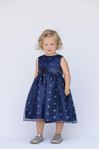 Blue Sparkle & Overlay Dress