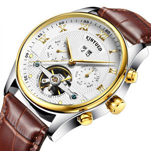 Skeleton Watch Men Automatic Waterproof  3bar
