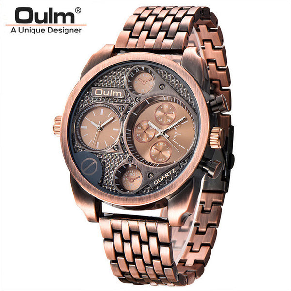 Oulm Luxury Watches Military Wristwatch  water resistance 3bar