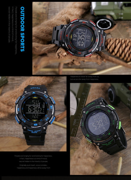 SMAE Digital Watches 50m Waterproof  dive