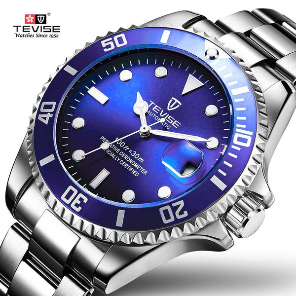 Tevise Men Mechanical Watch Automatic  3bar water resistance