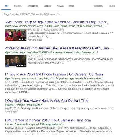 Google Page 2 Top of Page 1-6-19