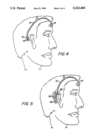 H. Werner Bottesh Bone Conduction Headphones Patent 6-92