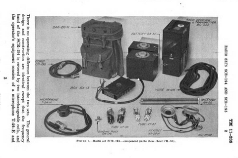 SCR-194 and 195 Walkie Talkie's