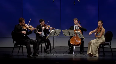 "The Dover Quartet performs Beethoven's String Quartet no.8"" written in 1806"
