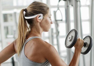 Wireless Bluetooth Bone Conduction Headphones at The Gym